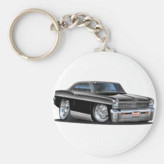 1966-67 Nova Black Car Keychain