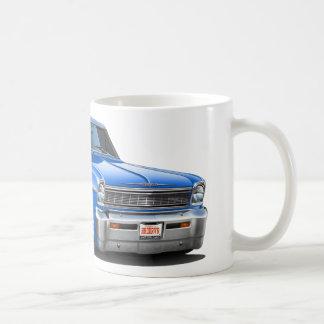 1966-67 Nova Blue Car Coffee Mug