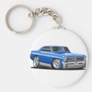1966-67 Nova Blue Car Keychain