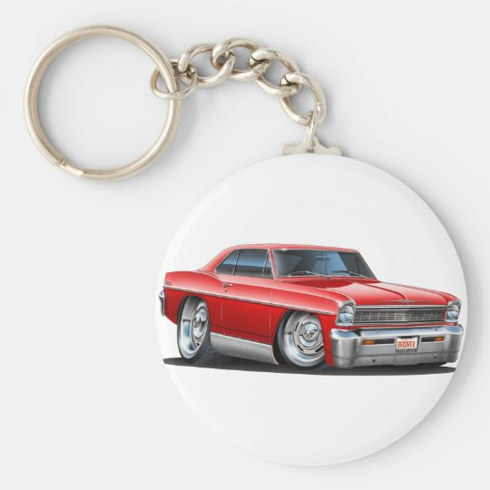 1966-67 Nova Red Car Keychain