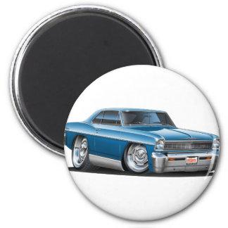 1966-67 Nova Teal Car 2 Inch Round Magnet