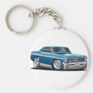 1966-67 Nova Teal Car Keychain
