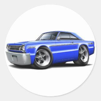 1966 Belvedere Blue Car Stickers