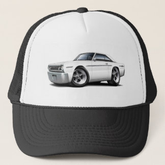 1966 Belvedere White Car Trucker Hat