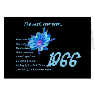1966 Birthday - The Best Year Ever with Hit Songs Greeting Card