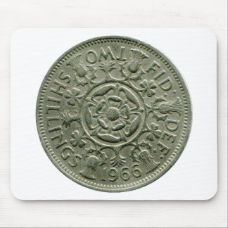 1966 British two shilling mouse pad