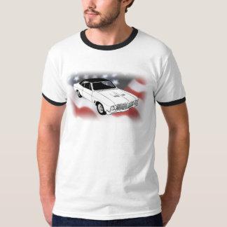 1966 Buick Gran Sport over USA flag T-Shirt