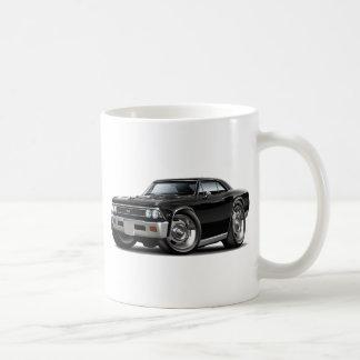 1966 Chevelle Black Car Coffee Mug