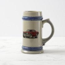 1966 Chevelle Maroon Car Beer Stein