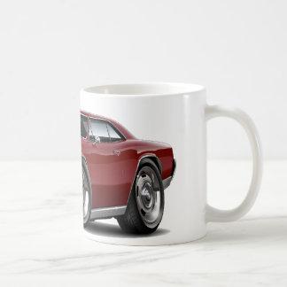 1966 Chevelle Maroon Car Classic White Coffee Mug