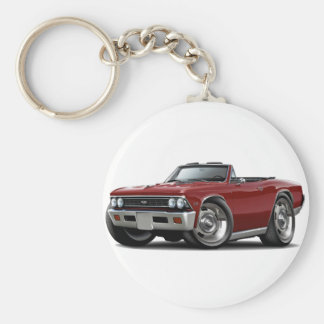 1966 Chevelle Maroon Convertible Keychains
