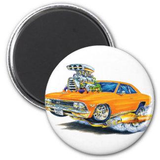 1966 Chevelle Orange Car 2 Inch Round Magnet