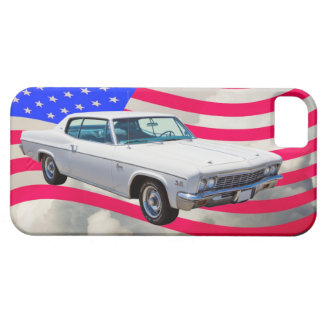 1966 Chevrolet Caprice With American Flag iPhone SE/5/5s Case