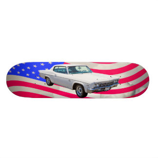 1966 Chevrolet Caprice With American Flag Skateboard