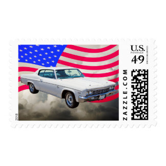 1966 Chevrolet Caprice With American Flag Stamp