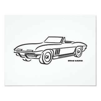 1966 Chevrolet Corvette 4.25x5.5 Paper Invitation Card