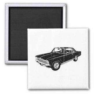 1966 Chevrolet Nova SS 2 Inch Square Magnet
