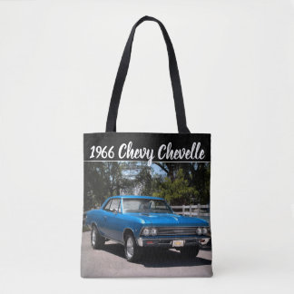 1966 Chevy Chevelle Big Block Muscle Car Tote Bag