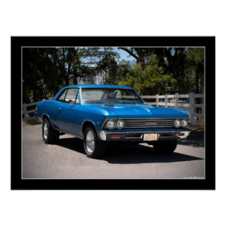 1966 Chevy Chevelle Muscle Car Poster