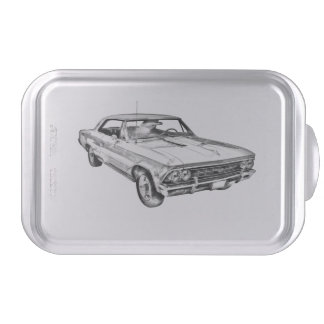 1966 Chevy Chevelle SS 396 Illustration Cake Pan