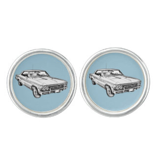 1966 Chevy Chevelle SS 396 Illustration Cufflinks