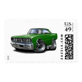 1966 Coronet Green Car Postage