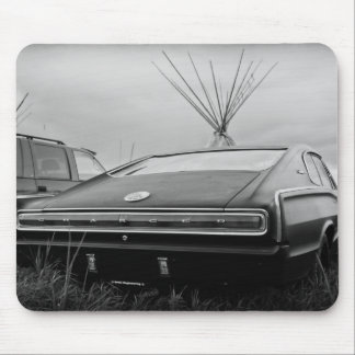 1966 Dodge Charger (B/W) Mouse Pad