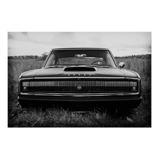 1966 Dodge Charger Print | Zazzle
