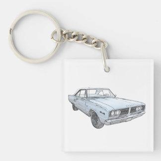 1966 Dodge Coronet Double-Sided Square Acrylic Keychain