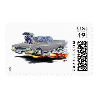 1966 El Camino Grey Truck Postage Stamps