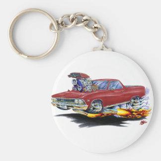 1966 El Camino Maroon Truck Keychain
