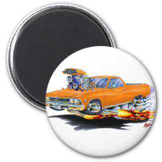 1966 El Camino Orange Truck Magnet