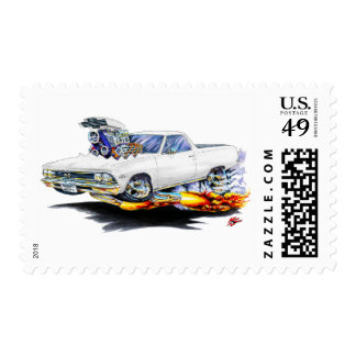 1966 El Camino White Truck Postage Stamp