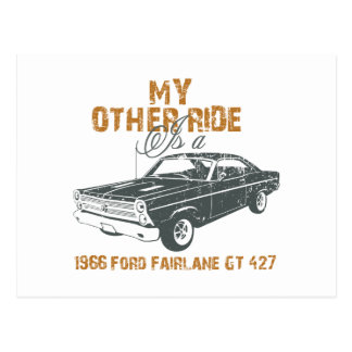 1966 Ford Fairlane GT 427 Postcard