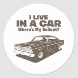1966 Ford Fairlane GT 427 Round Stickers