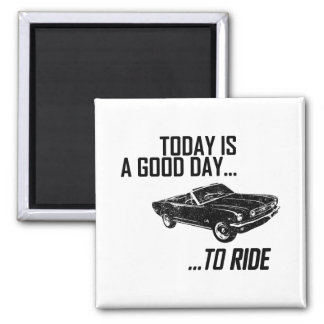 1966 Ford Mustang Convertible Fridge Magnets