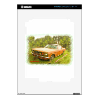 1966 Ford Mustang Fastback Decal For iPad 3
