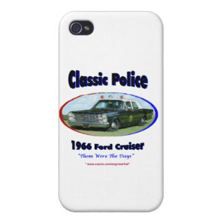 1966 Ford Police Cruiser iPhone 4/4S Cover