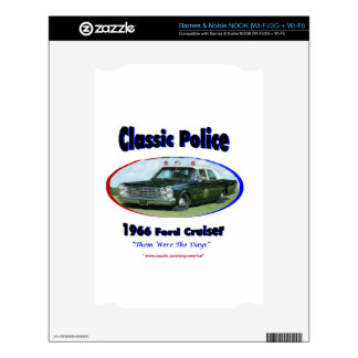 1966 Ford Police Cruiser Decals For The NOOK