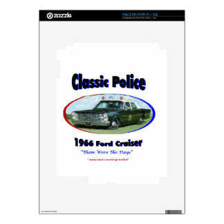 1966 Ford Police Cruiser Skin For iPad 2