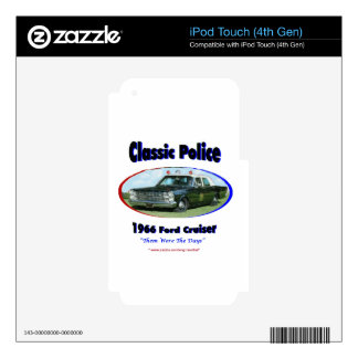 1966 Ford Police Cruiser iPod Touch 4G Skin