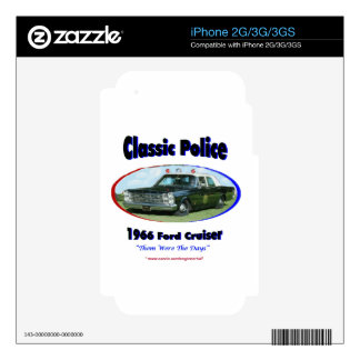 1966 Ford Police Cruiser Decal For The iPhone 2G
