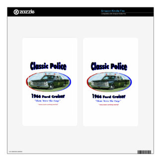 1966 Ford Police Cruiser Decals For Kindle Fire