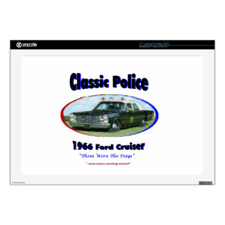 1966 Ford Police Cruiser Decals For Laptops