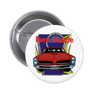 1966 GTO Muscle Car Pinback Button