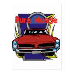 1966 GTO Muscle Car Postcard