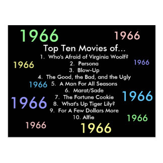 1966 Movies Post Cards