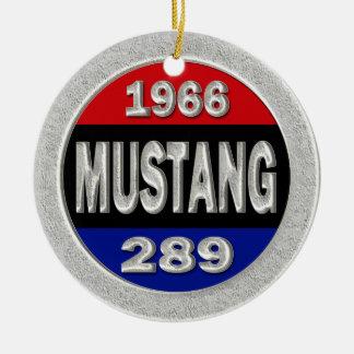 1966 Mustang 289 Ceramic Ornament