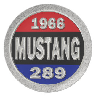 1966 Mustang 289 Dinner Plate