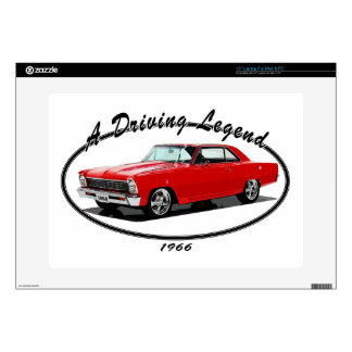 """1966_nova_red decal for 15"""" laptop"""